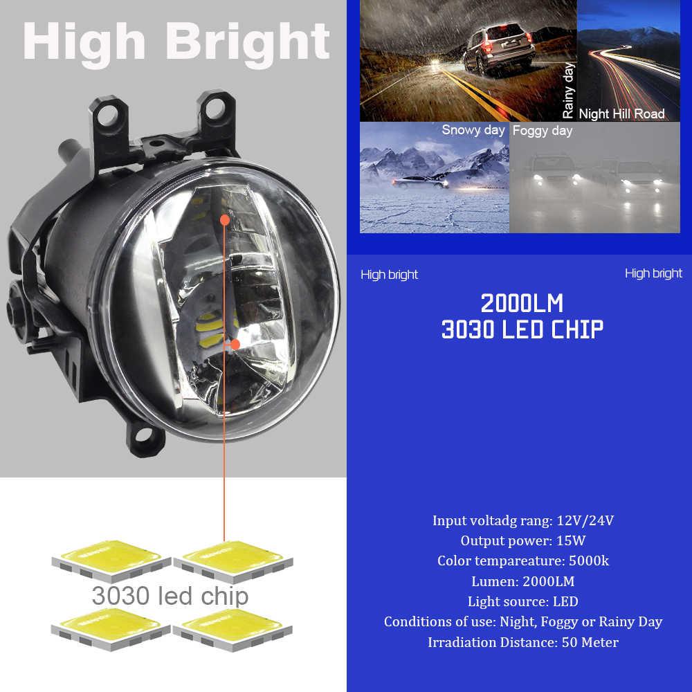 Cawanerl Car Styling 4000LM H11 Fog Light LED Daytime Running Lamp DRL White 12V For Toyota Solara 2007 2008