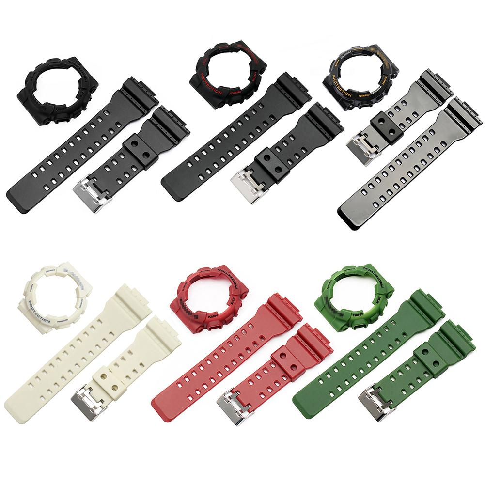 New Waterproof Anti-skid Watch Band Replacement Watch Band Strap Bezel Cover For Casio Men's G-Shock GA-110 GA100 GD-120