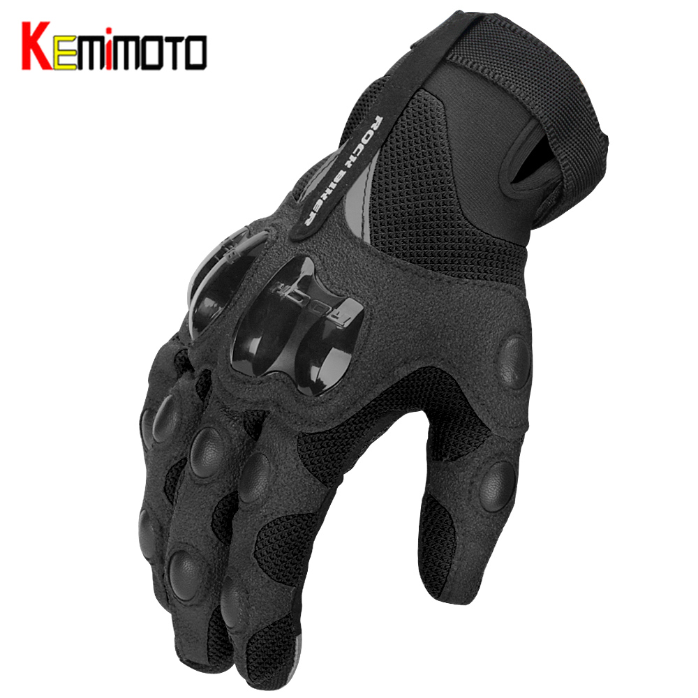 KEMiMOTO Motorcycle Gloves Breathable Spring Summer Motocross Luvas Cycling Mountain Bike Guantes Touch Screen Moto Gloves Men(China)