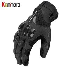 KEMiMOTO мотоциклетные дышащие перчатки весна лето мотокросса Luvas Велоспорт Горный велосипед Guantes сенсорный экран мото-перчатки мужские