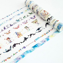 20/30mm *7m kawaii watercolor Washi Tape DIY decoration scrapbooking planner masking tape adhesive tape label sticker stationery 1 5cm 7m cute socks washi tape diy decoration scrapbooking planner masking tape adhesive tape kawaii stationery