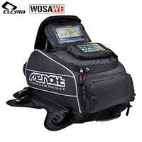 WOSAWE Magnet Motorcycle Tank Bag Big Oil Fuel Tank Bag Waterproof Helmet Bag Motocross Travel Luggage Bags Moto GPS Touchscreen