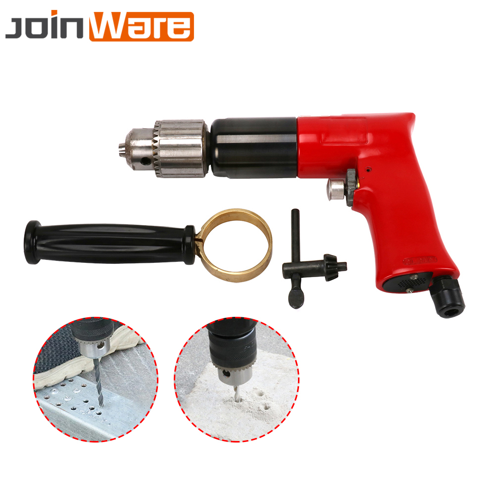 1/2 Air Drill Reversible Pneumatic Power Compressor Auto Body Tool 500rpm New Pistol Type For Drilling Power Tool Good For Antipyretic And Throat Soother Tools Pneumatic Tools