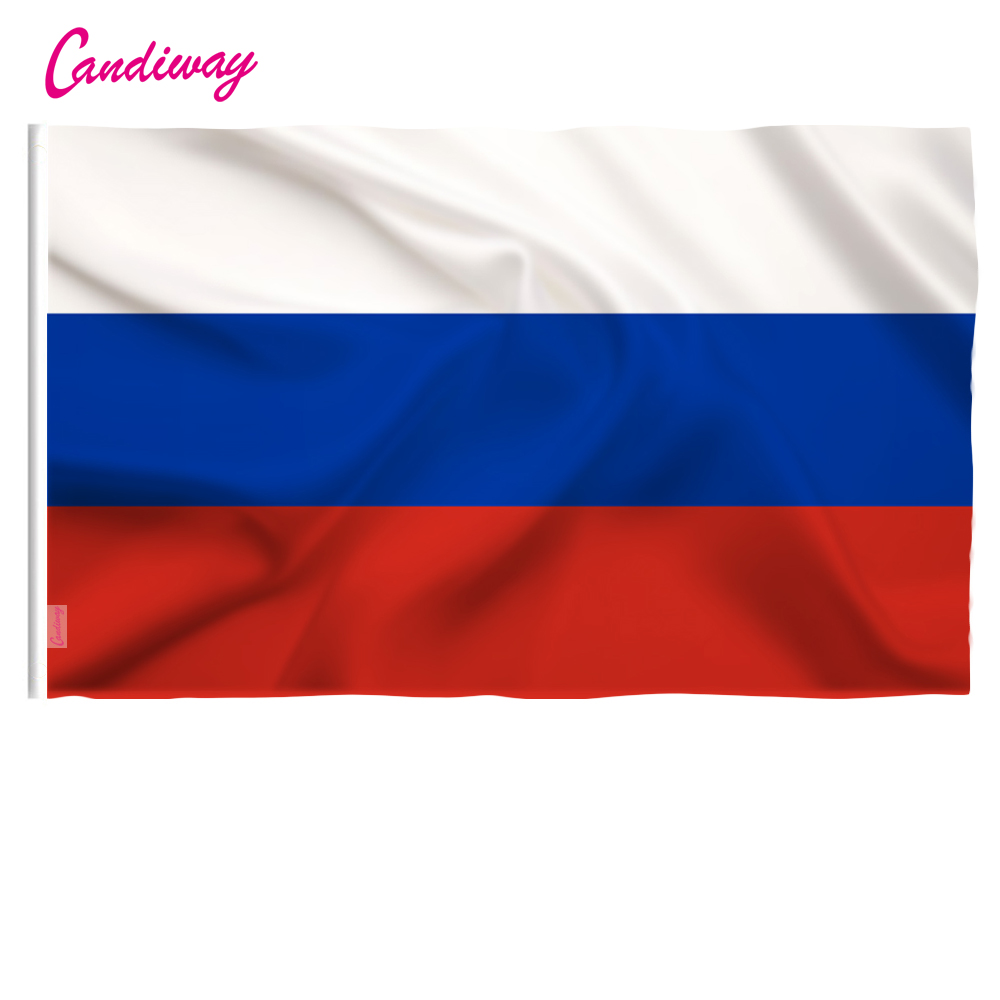 3ft X 2ft Hängen Russland Flagge Polyester Russland Nationalen Flagge Banner Outdoor Indoor 64x96 Cm