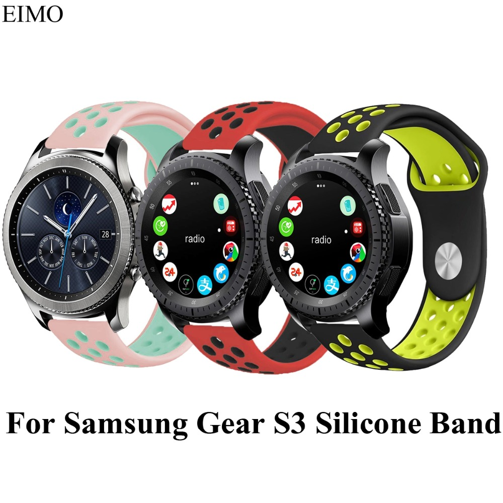 22mm Silicone Watch Band For Samsung Gear S3 frontier Strap Rubber wrist WatchBand for Xiaomi Huami Amazfit Sport Strap