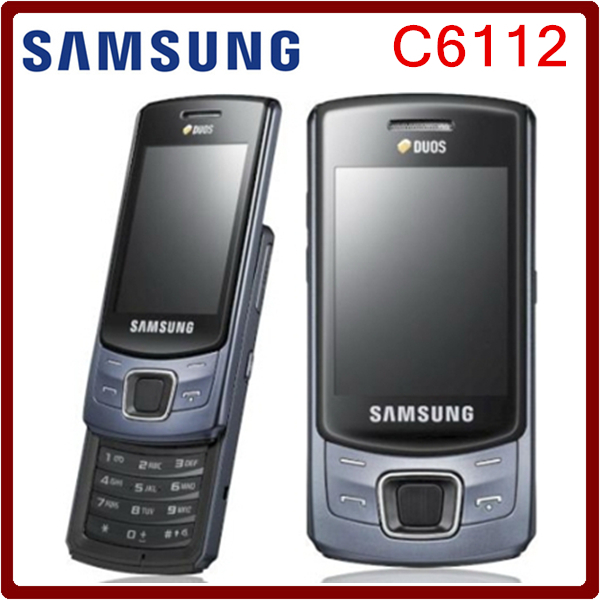 c6112 original unlocked samsung c6112 dual sim cards refurbished mobile phone free shipping in. Black Bedroom Furniture Sets. Home Design Ideas