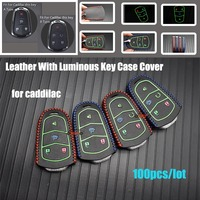 For Cadillac Escalade ESV XTS ATS CTS SRX 6BT CT6 ATS L XT5 BLS Car styling 100pcs car key cover keychain case Auto accessories