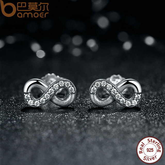 Sterling Silver Infinite Love Earrings