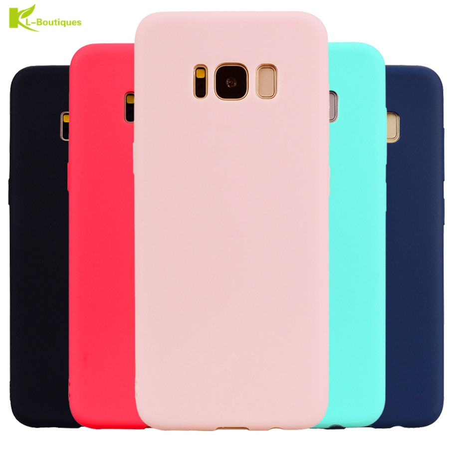 KL-Boutiques Candy Color Soft Case for Samsung Galaxy S8 S9 Plus S7 S6 Edge J3 J5 J7 2016 A3 A5 A7 A8 + 2017 J2 PRO 2018 Cases