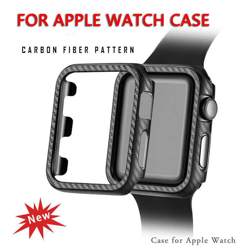 Protector para Apple Watch funda para IWatch Series 4 3 2 1 con fibra de carbono Ultra fina la correa de 38MM 42MM 40MM 44MM