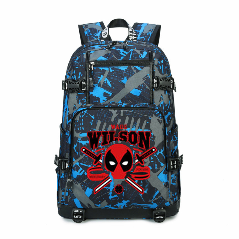 Women Men Superhero Deadpool Wilson Backpack Rucksack Mochila Schoolbag Bag For School Boys Girls Student Travel women men anime black bulter sebastian michaelis backpack rucksack mochila schoolbag bag for school boys girls student travel
