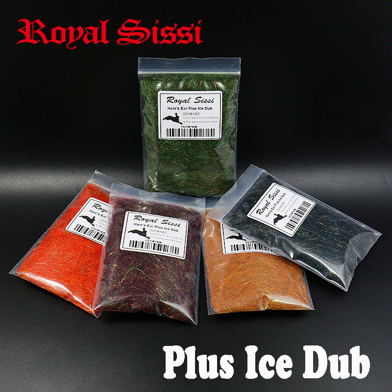 8 colors Hare's Ear Plus Ice Dub with rabbit guard hair Czech nymph scud dub spiky &sparkle fly tying material for buggy nymphs bimoo 6 bags ultra fine ice dub for fly tying synthetic sparkle dubbing fiber for nymph scud streamers fly tying material