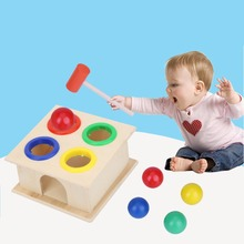 Детские деревянные игрушки молоток Деревянные игрушки Обучающие Игрушки для раннего развития для детей музыкальные игрушки инструмент подарок звукогенератор