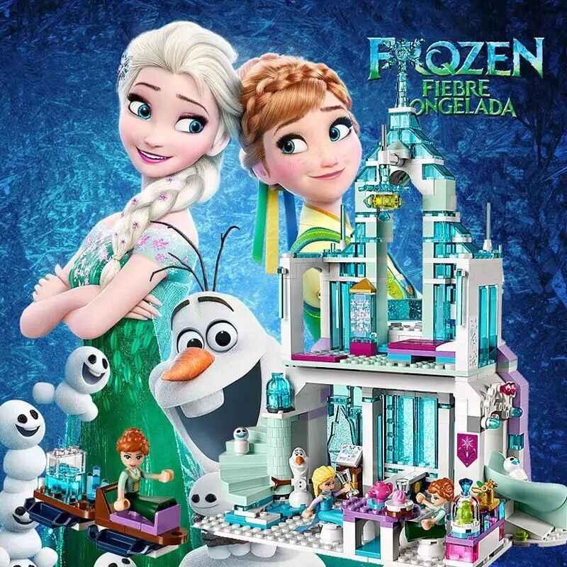 Disney Frozen 316 шт принцесса мечты Эльза ледяной замок Принцесса Анна Набор строительных моделей блоки Подарки Игрушка совместима с Legoings
