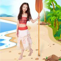2017 Movie Princess Moana Dress Cosplay Costume For Children Costume For Adult Women Halloween Costumes For