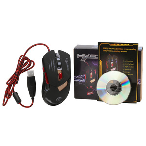 Image 2 - HXSJ H400แสงไฟLEDฐานโลหะสายเมาส์สำหรับเล่นเกม6ปุ่มLEDการเขียนโปรแกรมเกมการแข่งขันหนูสำหรับคอมพิวเตอร์