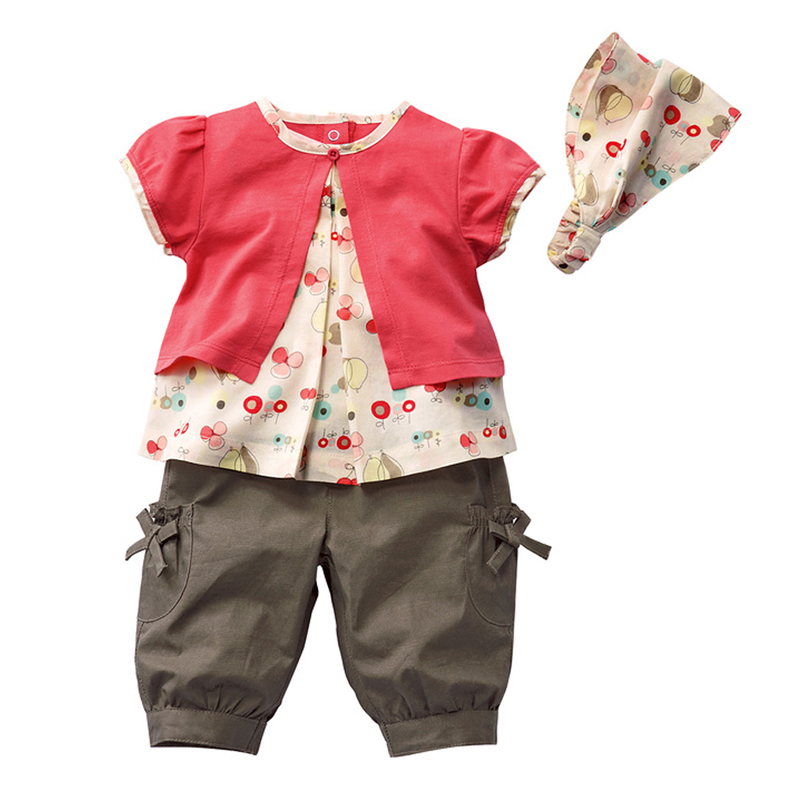 2017 Baby Girl Clothes Summer Baby Girls Clothing Sets Roupas Bebe