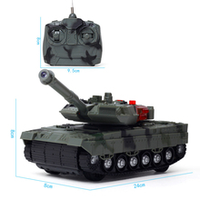 1 Set 4 Channels RC Tank Battle Tank With Light & Musical Tank Cannon 360 Degree Rotation RC Cars For Children Boy Gift
