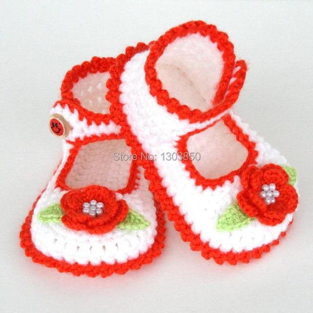 Baby Bootieshandmade Babyschuhe Häkeln Mädchen Booties Häkeln Blume