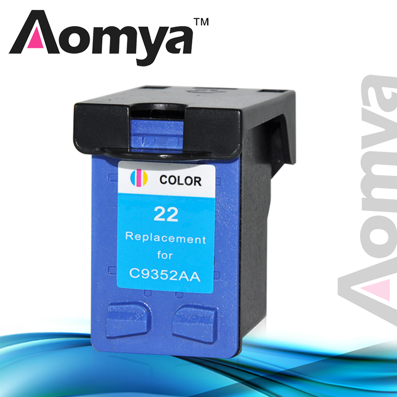 Aomya Tri-color Ink Cartridge Compatible For HP 22 22XL for HP Deskjet 3915 D1530 D1320 F2100 F2280 F4100 F4180 Printer NO OEM free shipping for hp 21xl 22xl ink cartridge c9351an c9352an for hp deskjet 3915 3920 3930v d1530 d1320 d1311 d1455 printer