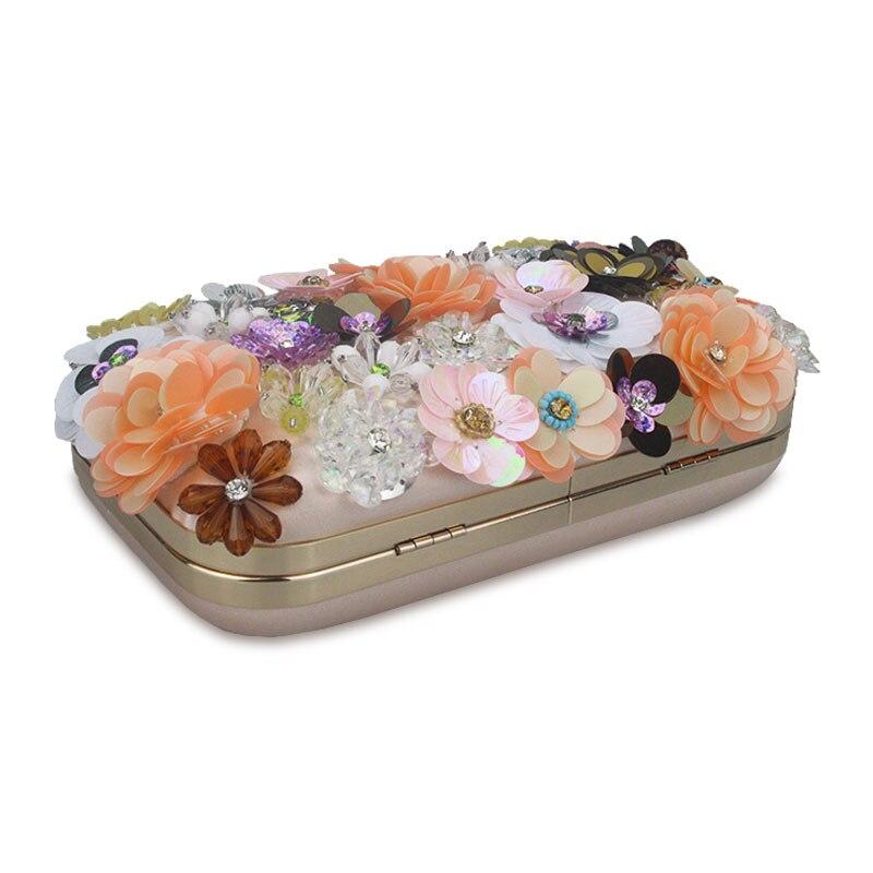 Cvijeće Bijela boja Ručno izrađena tkanina za žene Večernja - Torbe - Foto 4