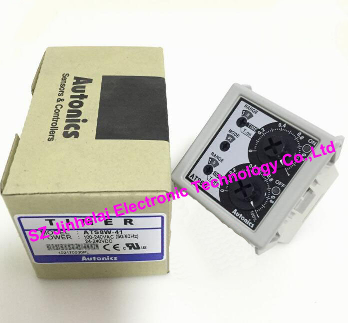 New and original ATS8W-41 AUTONICS TIME RELAY 100-240VAC/24-240VDC