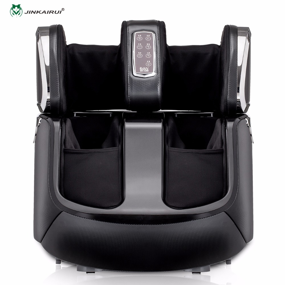 JinKairui Shiatsu Amassar Rolling Automática Pés Massagem de Compressão de Ar de Calor Elétrico Massageador de Pés Bezerro Máquina Doméstica