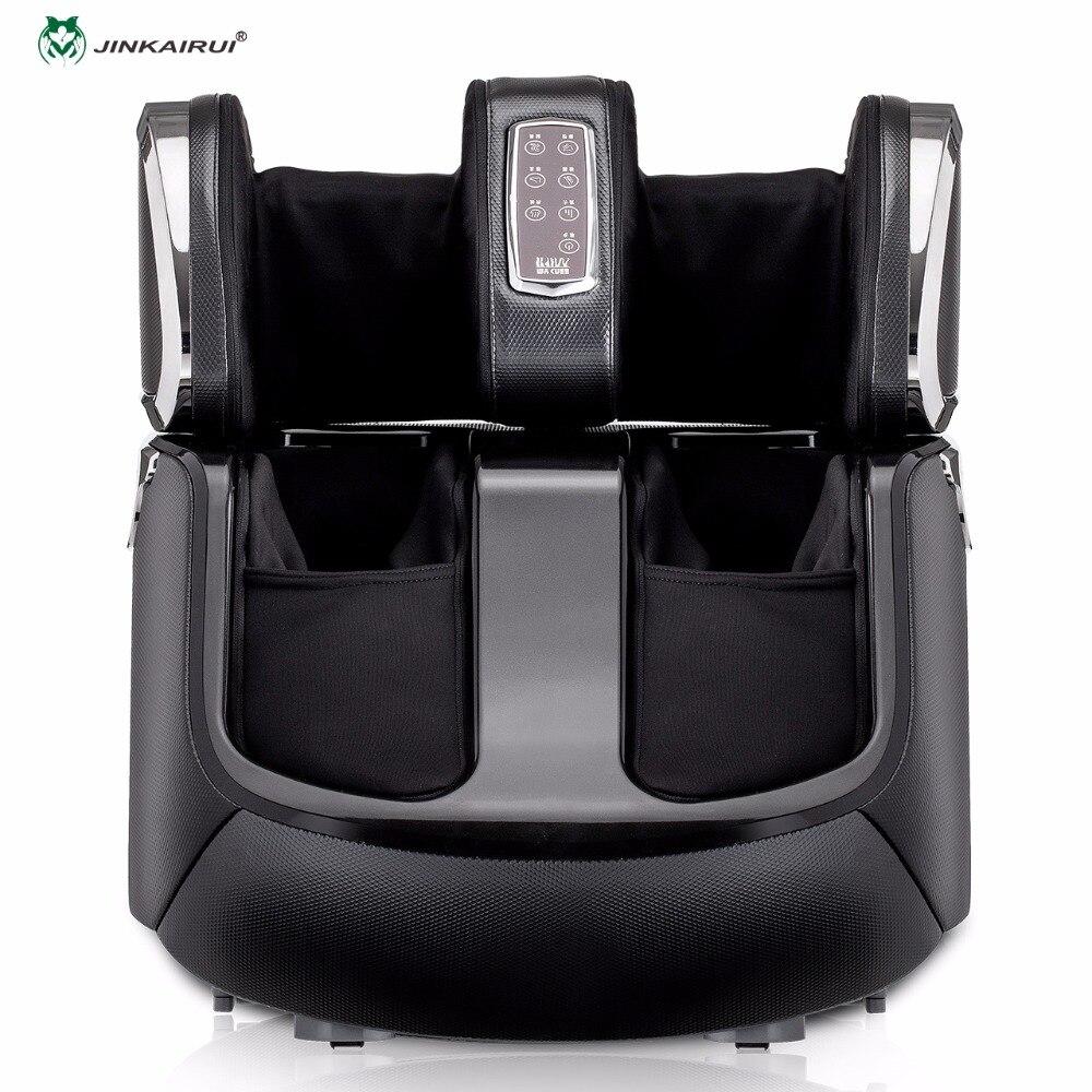 Jinkairui automático amassar rolamento shiatsu compressão de ar pés massagem elétrica calor pé massageador bezerro máquina do agregado familiar