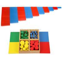 Монтессори деревянная сенсорные и математика Материал для детей раннего обучения образовательные Игрушечные лошадки интеллектуального р