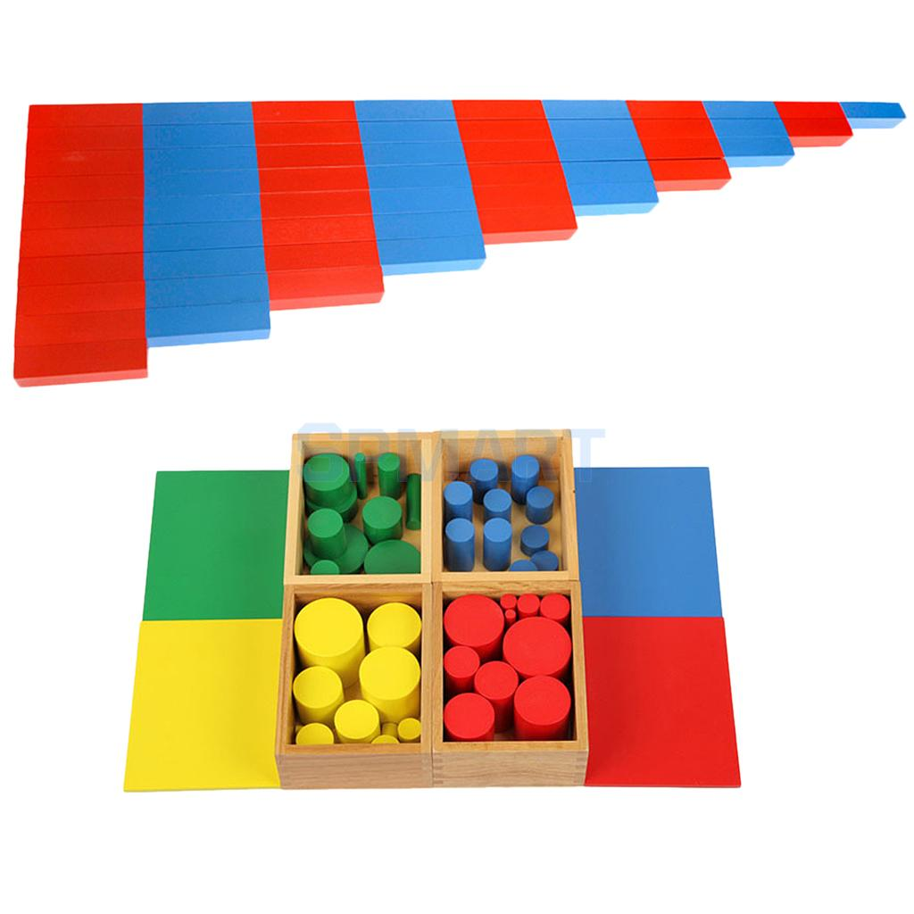 Montessori Wooden Sensorial & Math Material for Kids Early Learning Educational Toys Intelligent Development Xmas Gift