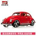 Autos antiguos clásicos de aleación escarabajo vw modelo de coche de aleación de coches de juguete de regalo exquisito