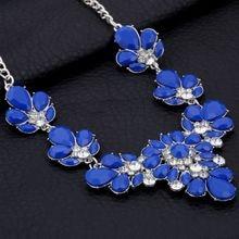 42b2b7ca5526 Collar de gargantilla de cristal de declaración de mujer MINHIN Collar de  diseño corto de boda de joyería de piedras preciosas s.