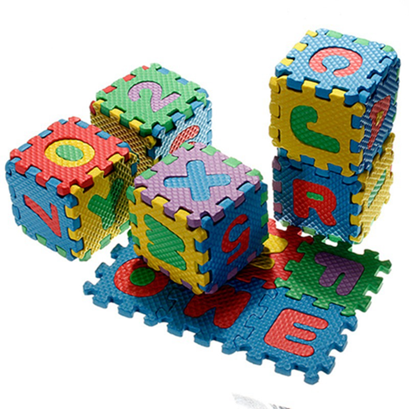 Baby Colorful EVA Foam Alphabet Letters Numbers Mat Jigsaw Puzzle
