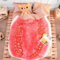 3D Vegetables Funny Blanket Bedding Cabbage Shaped Summer Quilt Cute Comforter Washable Light Quilt