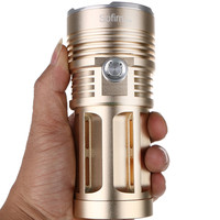 SF34 Powerful LED Flashlight 10000lm Cree LED Torch Light By 18650 Tactical Flashlight Handheld Lights 5