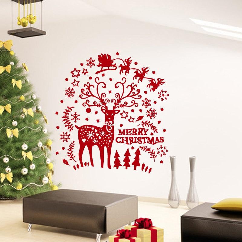 2017 Merry Christmas Reindeer Christmas Gift Snowflake ...