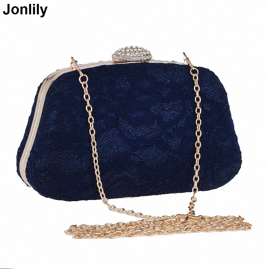 Bridal Wedding Satin Evening Bags Lace Floral Day Pouch Clutches Women Messenger Shoulder Bag Purse Party Girl LI-298 women messenger bags day clutches bag designer rabbit fur shoulder bags for party handbags women small evening bags bolsos a0325