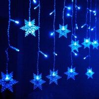 Weihnachten Girlande LED Vorhang Eiszapfen String Licht 110 V 3,5 mt 120 Leds Innen Drop LED Garten Bühne Im Freien dekoratives Licht