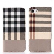 Для Apple iPhone 7 чехол искусственная кожа флип плед бумажник телефон сумки 360 градусов Полная защита для iPhone 7 Чехол iPhone 7 Plus