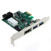 Обои для рабочего 3 Порта USB 3.0 20 Контактный Разъем Питания PCI Express ESATA Адаптер Контроллера Карты