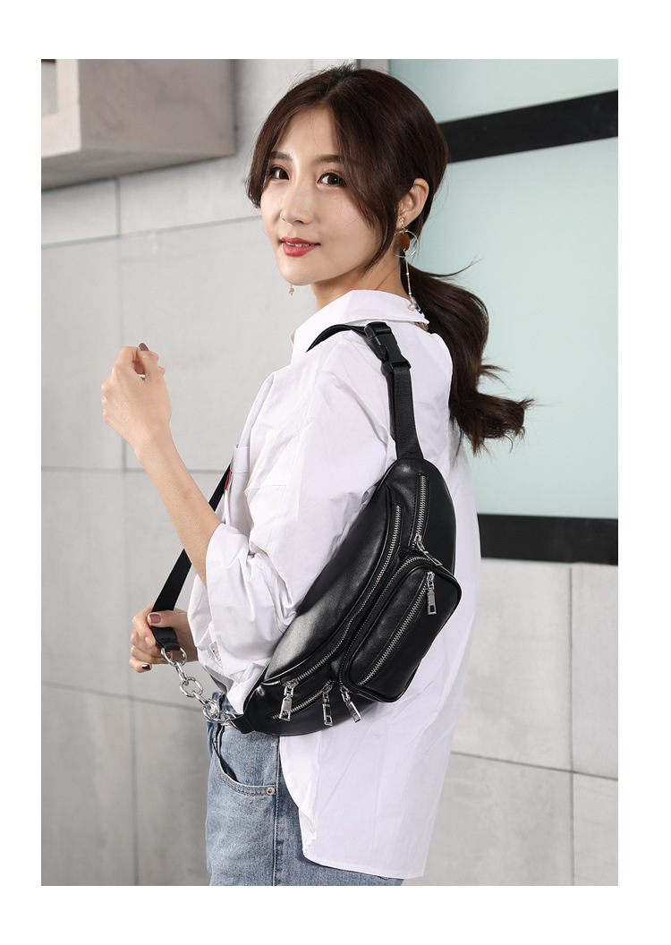 New Women Waist Bag Multifunction Women Waist Pack Fashion Leather Phone Bags Small Belt Bag Cool Fanny Packs Women 2019 Summer in Waist Packs from Luggage Bags