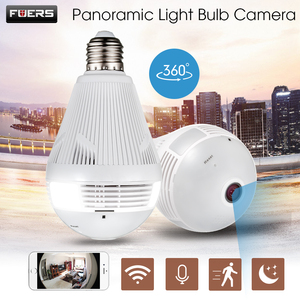 Image 1 - FUERS câmera de Vigilância IP 960P lâmpada Fisheye Panoramic camera Home Security sem fio Wi fi câmera de CCTV 360 Graus