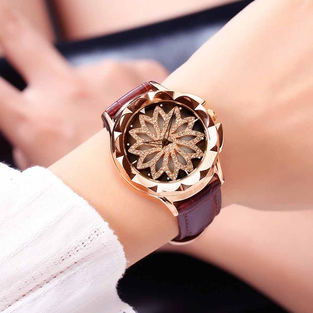 2019 Rose Gold Women Bracelet Watches Steel Quartz Dress Lovers Lady Girls Watch