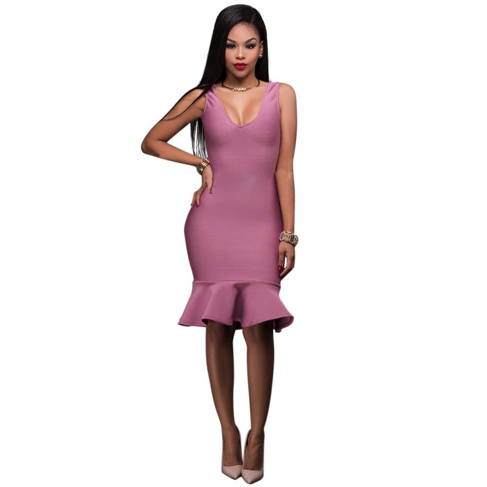 Compra knee length peplum dress y disfruta del envío gratuito en ...