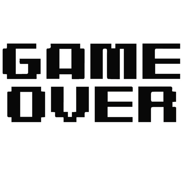 14 6 6 5cm game over fashion wordart car styling stickers creative
