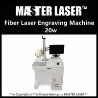 Lower Price 20W Fiber Portable 220V Input IPG Laser With DELL DESKTOP Computer Nameplate Engraving Machine