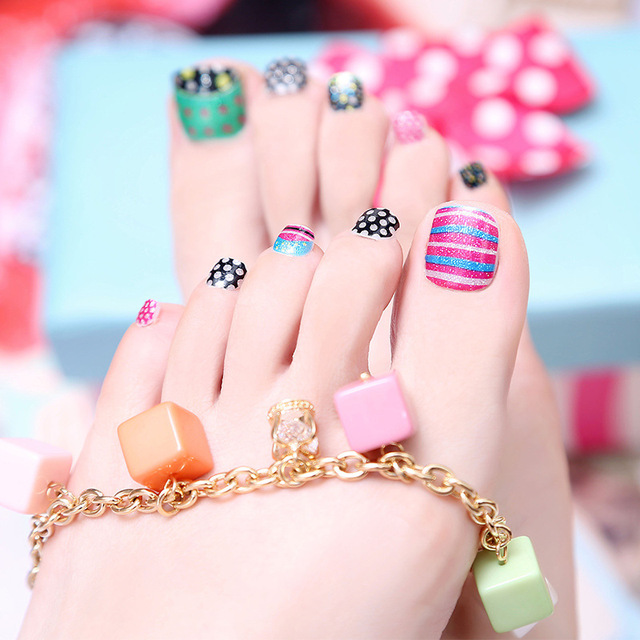 New 5 sheetlot girls cute cartoon parttern foot nail stickers new 5 sheetlot girls cute cartoon parttern foot nail stickers korea waterproof environmental protection prinsesfo Image collections
