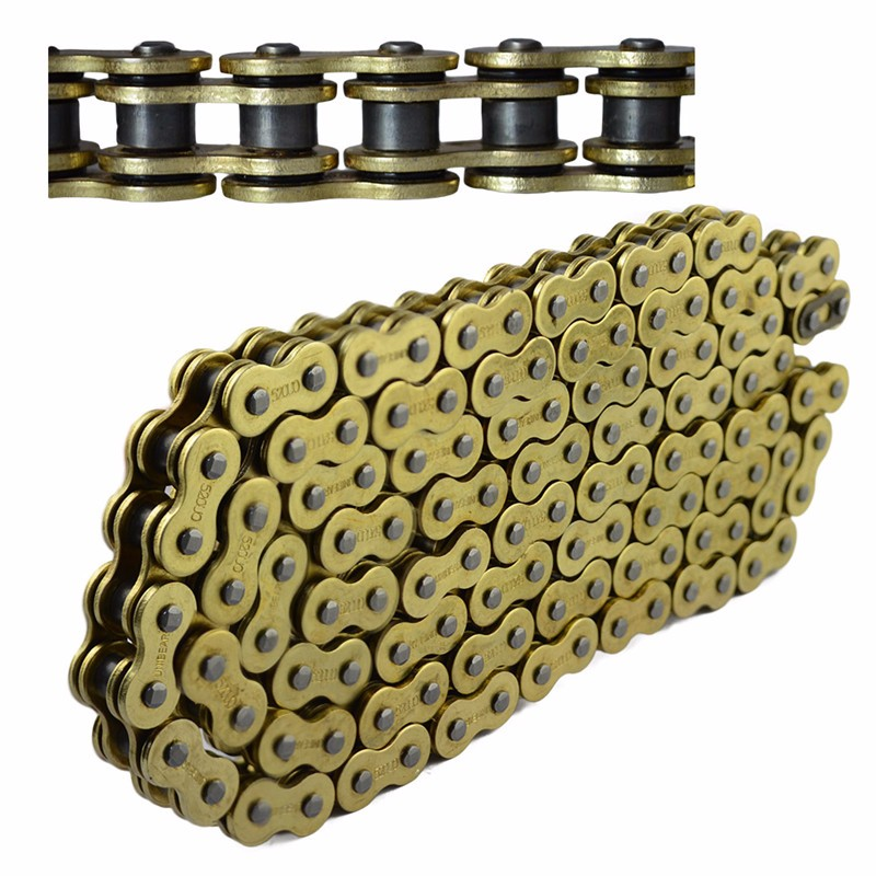 520 Motorcycle Drive Chain parts 520 Pitch Heavy Duty Gold O-Ring Chain For Honda CR125R CR250R CRF250R CRF450R 530 120 brand new unibear motorcycle drive chain 530 gold o ring chain 120 links for cagiva ala azzurra 650 drive belts