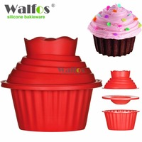 Walfos高品質シリコンジャイアントカップケーキモールド