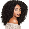 Newest Medium Long Afro Kinky Curly Wig Synthetic Wigs For Black Women With Baby Hair Kylie Jenner Cosplay Wig Harley Quinn Wig